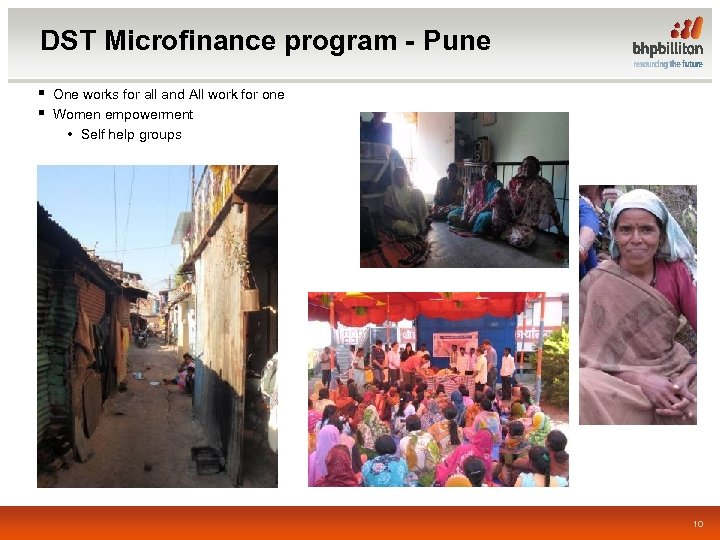 DST Microfinance program - Pune § One works for all and All work for