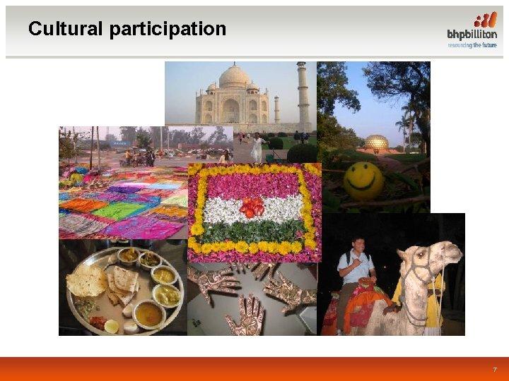 Cultural participation 7