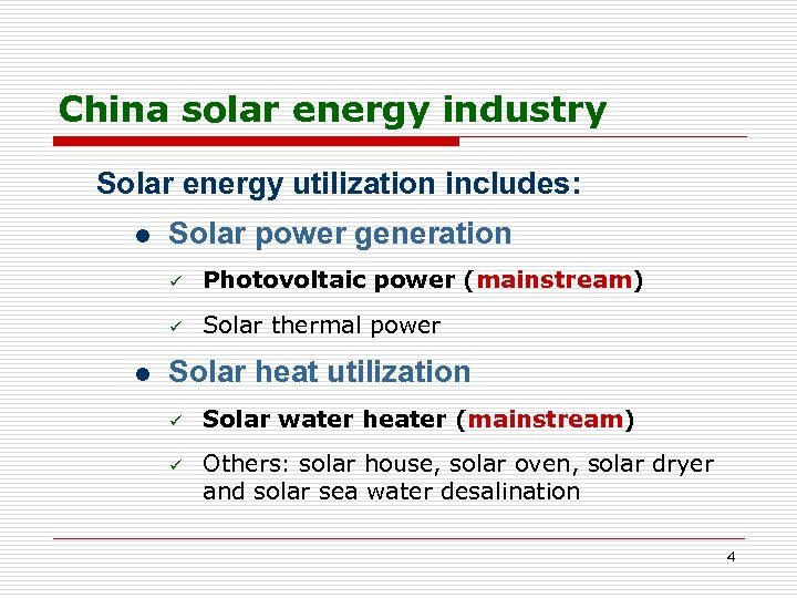 Solar Energy Utilization In China Wang Qiming Counsellor