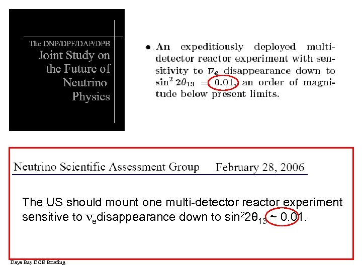 The US should mount one multi-detector reactor experiment sensitive to edisappearance down to sin