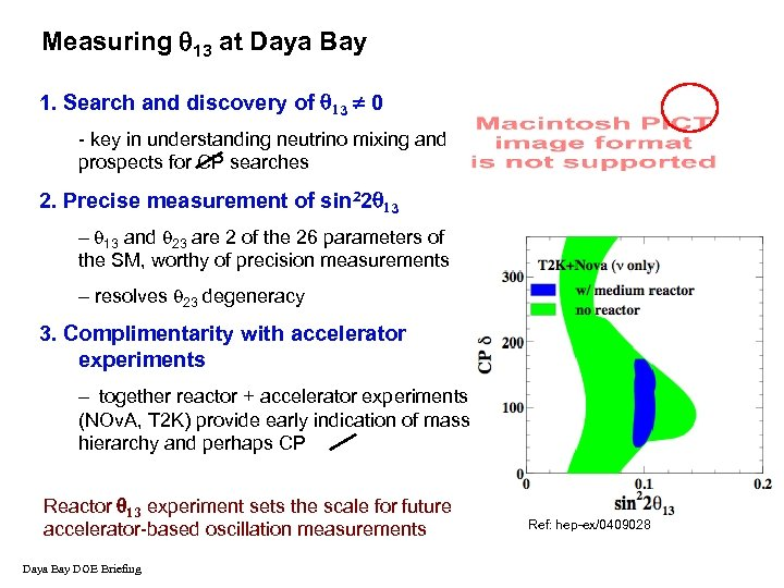 Measuring 13 at Daya Bay 1. Search and discovery of 3 0 - key