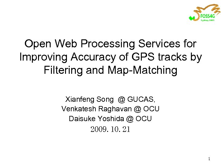 Open Web Processing Services for Improving Accuracy of