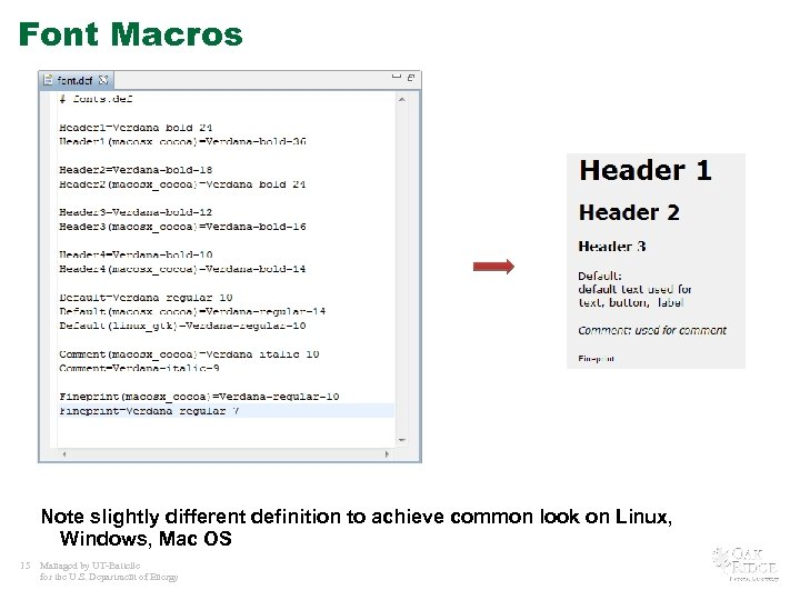 Font Macros Note slightly different definition to achieve common look on Linux, Windows, Mac