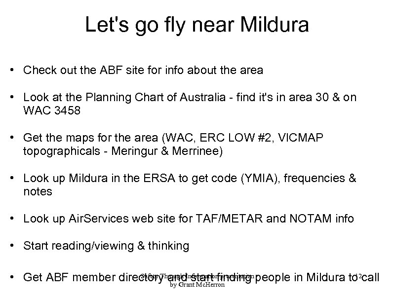 Let's go fly near Mildura • Check out the ABF site for info about