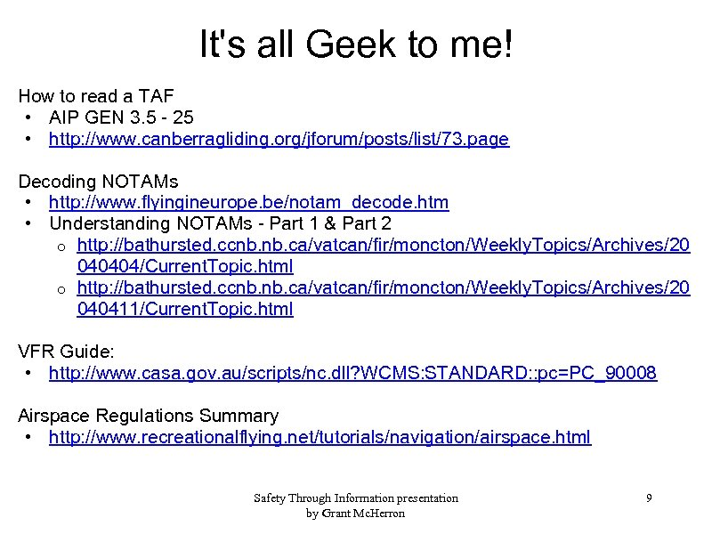 It's all Geek to me! How to read a TAF • AIP GEN 3.