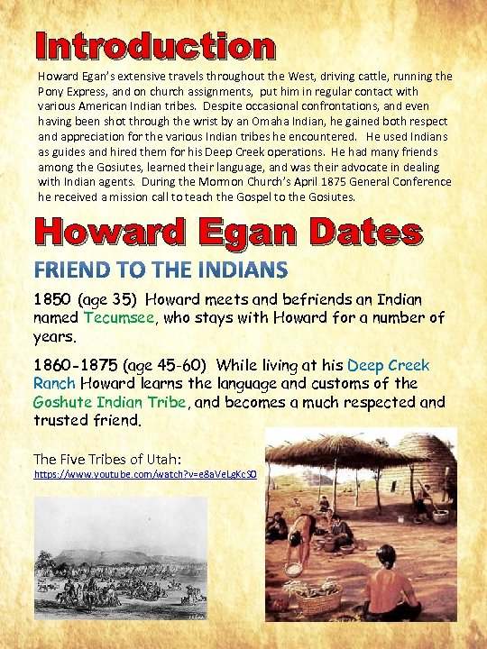 Introduction Howard Egan's extensive travels throughout the West, driving cattle, running the Pony Express,