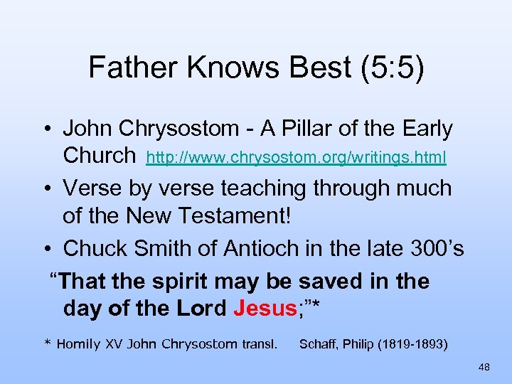 Father Knows Best (5: 5) • John Chrysostom - A Pillar of the Early