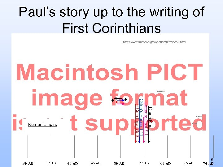 Paul's story up to the writing of First Corinthians http: //www. anova. org/sev/atlas/htm/index. html