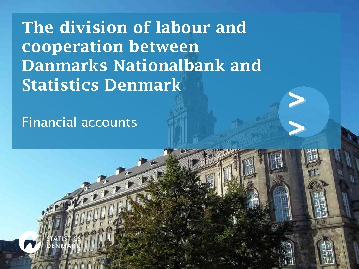 The division of labour and cooperation between Danmarks Nationalbank and Statistics Denmark Financial accounts