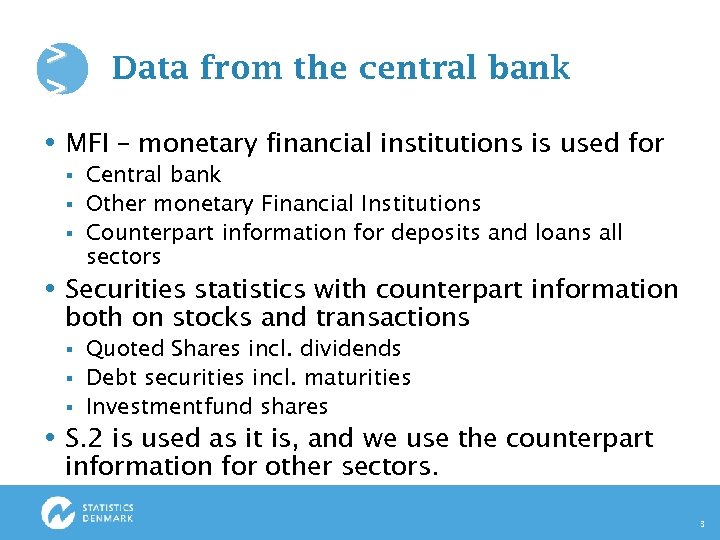 > > Data from the central bank MFI – monetary financial institutions is used
