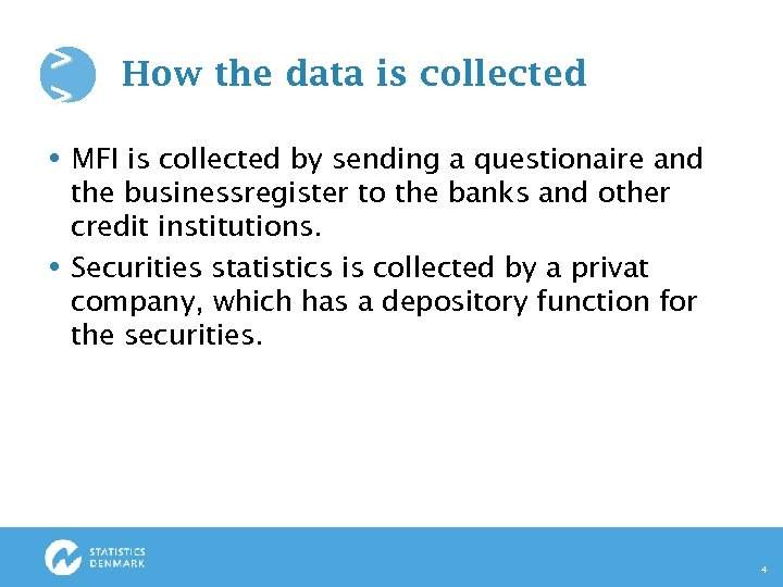 > > How the data is collected MFI is collected by sending a questionaire