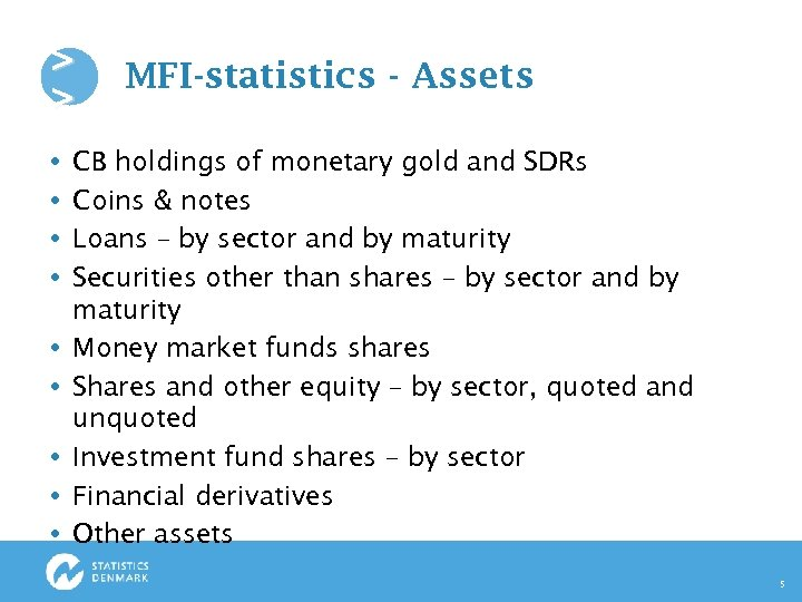 > > MFI-statistics - Assets CB holdings of monetary gold and SDRs Coins &