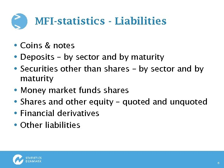 > > MFI-statistics - Liabilities Coins & notes Deposits – by sector and by