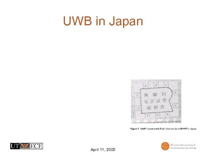 UWB in Japan April 11, 2005