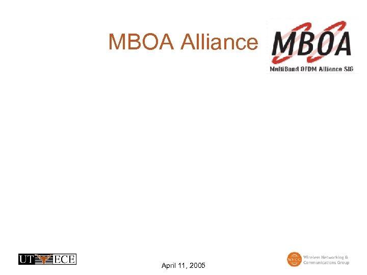 MBOA Alliance April 11, 2005
