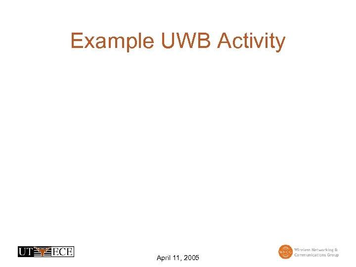 Example UWB Activity April 11, 2005
