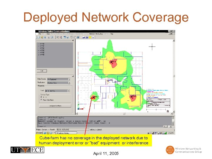 Deployed Network Coverage Cube-farm has no coverage in the deployed network due to human