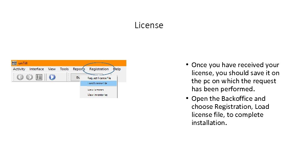 License • Once you have received your license, you should save it on the