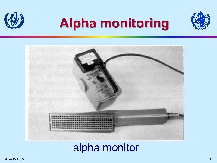 Alpha monitoring alpha monitor Module Medical V 11