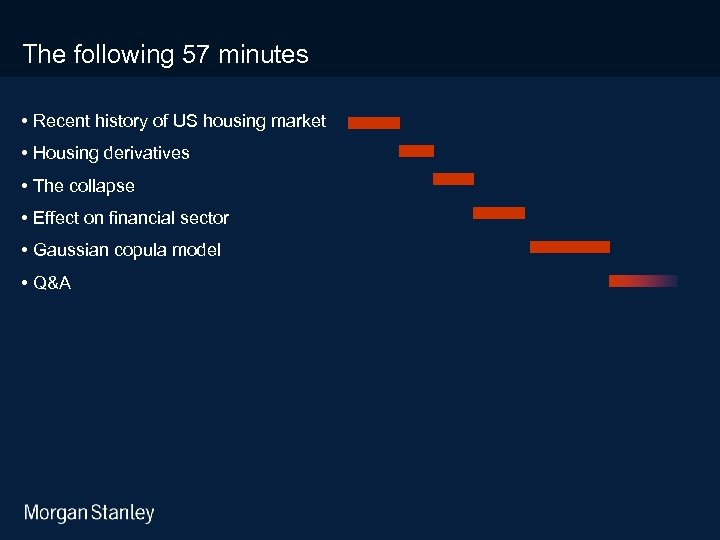 3/18/2018 The following 57 minutes • Recent history of US housing market • Housing