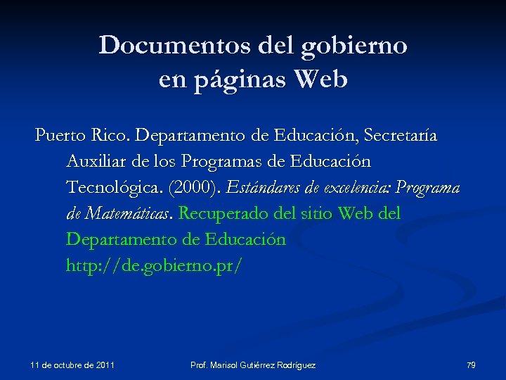 Documentos del gobierno en páginas Web Puerto Rico. Departamento de Educación, Secretaría Auxiliar de
