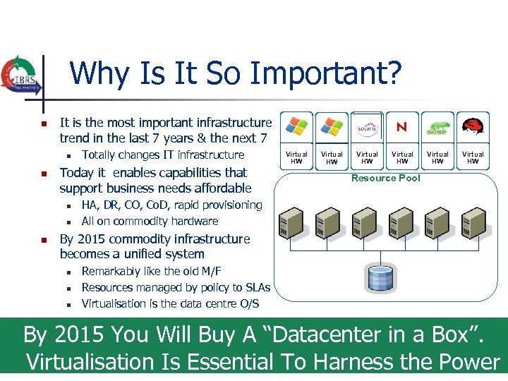 Why Is It So Important? n It is the most important infrastructure trend in