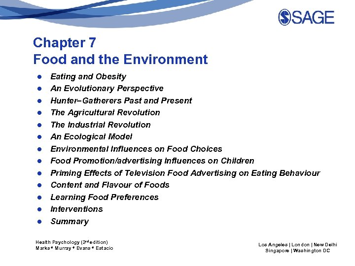 Chapter 7 Food and the Environment ● ● ● ● Eating and Obesity An