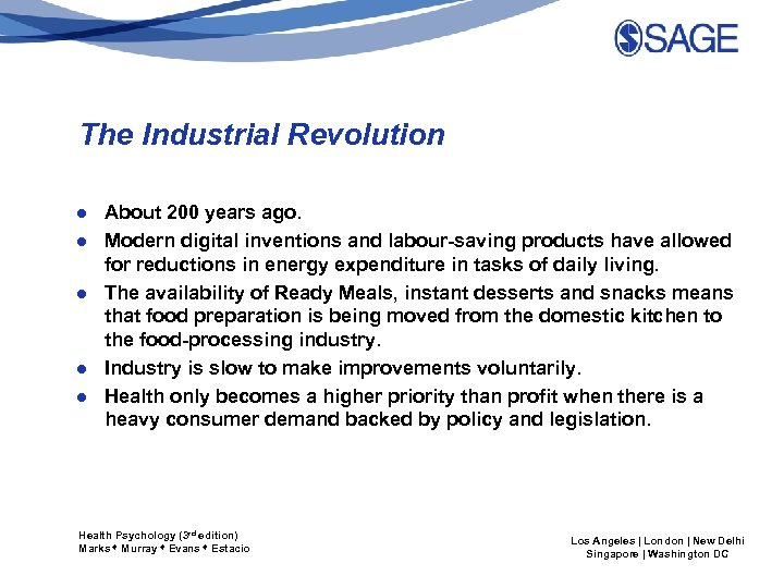 The Industrial Revolution ● About 200 years ago. ● Modern digital inventions and labour-saving