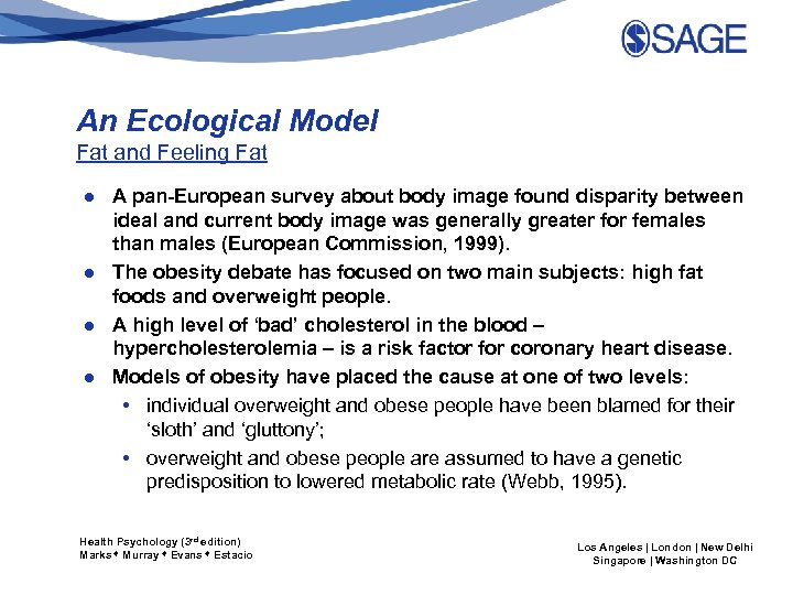 An Ecological Model Fat and Feeling Fat ● A pan-European survey about body image
