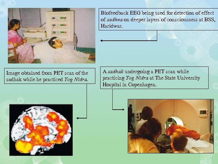 Biofeedback EEG being used for detection of effect of sadhna on deeper layers of