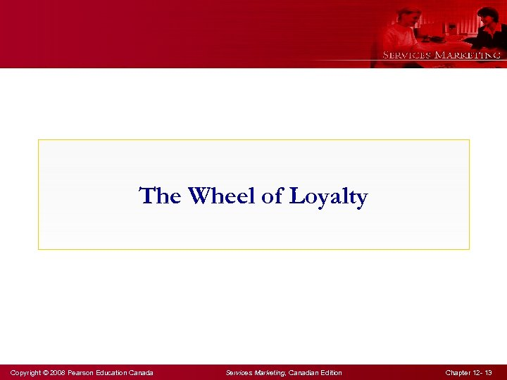 The Wheel of Loyalty Copyright © 2008 Pearson Education Canada Services Marketing, Canadian Edition