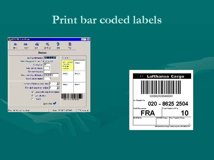 Print bar coded labels
