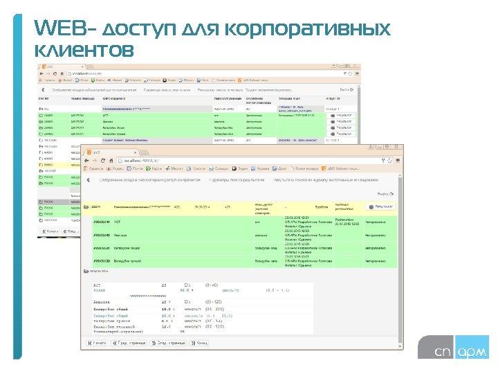 WEB- доступ для корпоративных клиентов