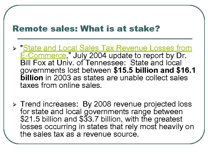 Remote sales: What is at stake? Ø