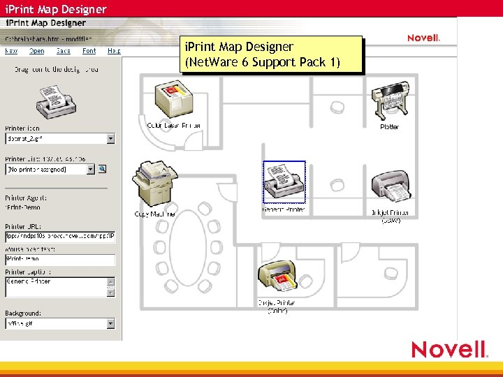 i. Print Map Designer (Net. Ware 6 Support Pack 1)