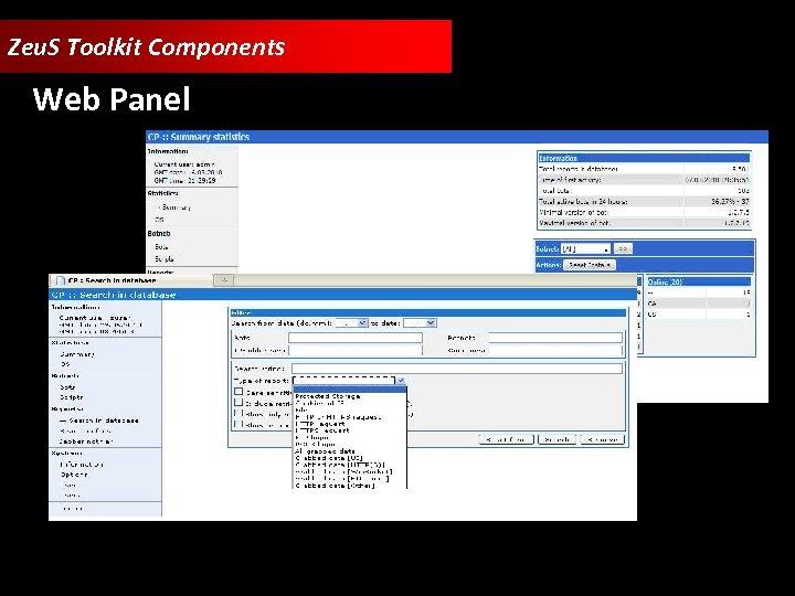 Zeu. S Toolkit Components Web Panel
