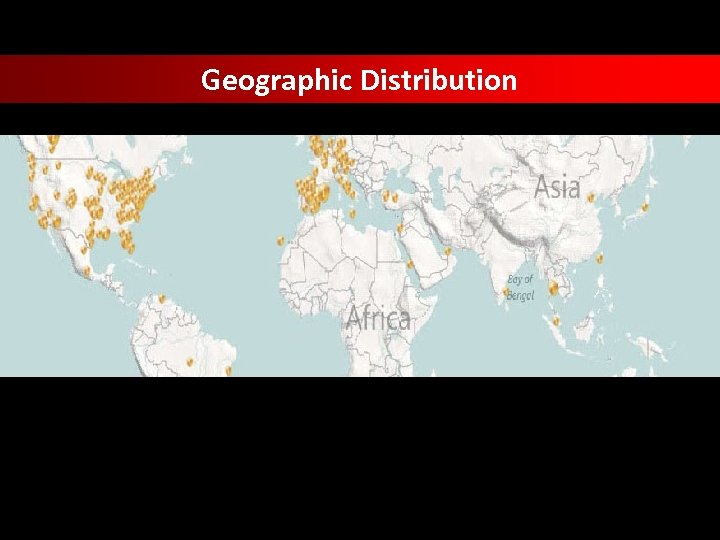 Geographic Distribution data taken from Trend Micro Smart Protection Network