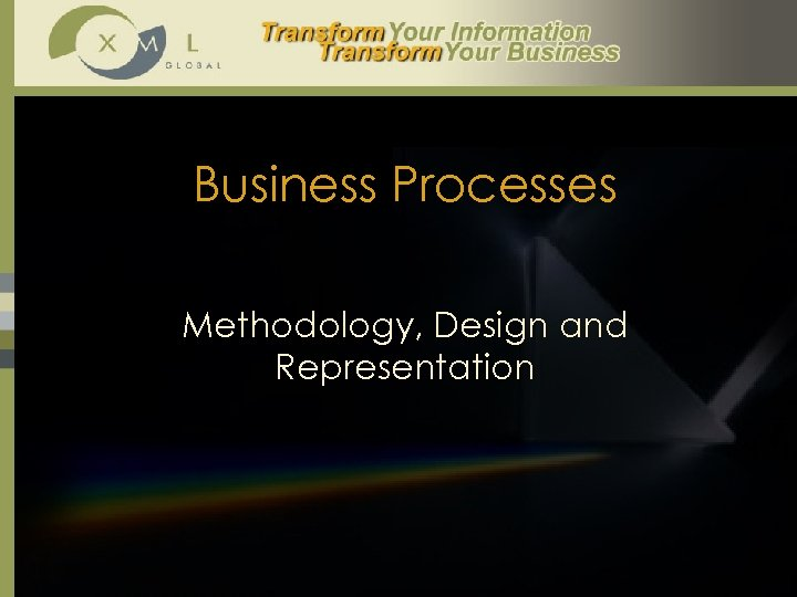 Business Processes Methodology, Design and Representation