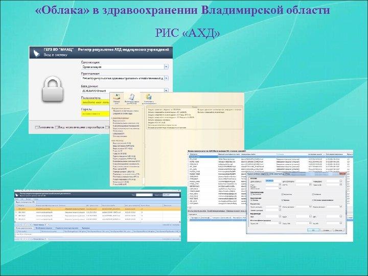 «Облака» в здравоохранении Владимирской области РИС «АХД»