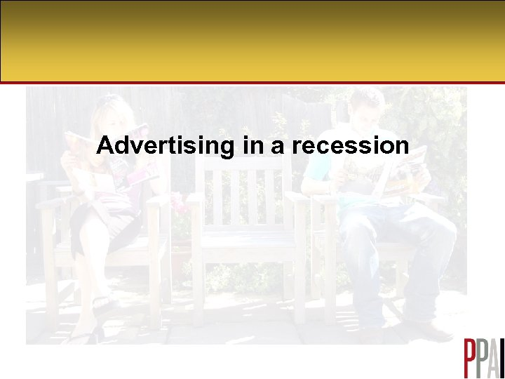 Advertising in a recession