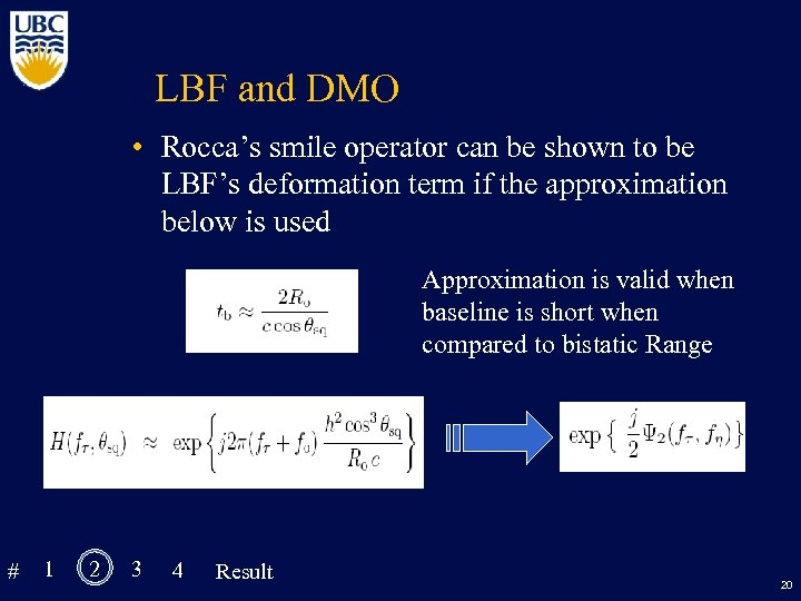 LBF and DMO • Rocca's smile operator can be shown to be LBF's deformation