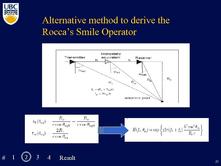 Alternative method to derive the Rocca's Smile Operator # 1 2 3 4 Result