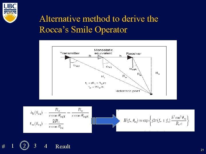 Alternative method to derive the Rocca's Smile Operator # 1 2 3 4 Result