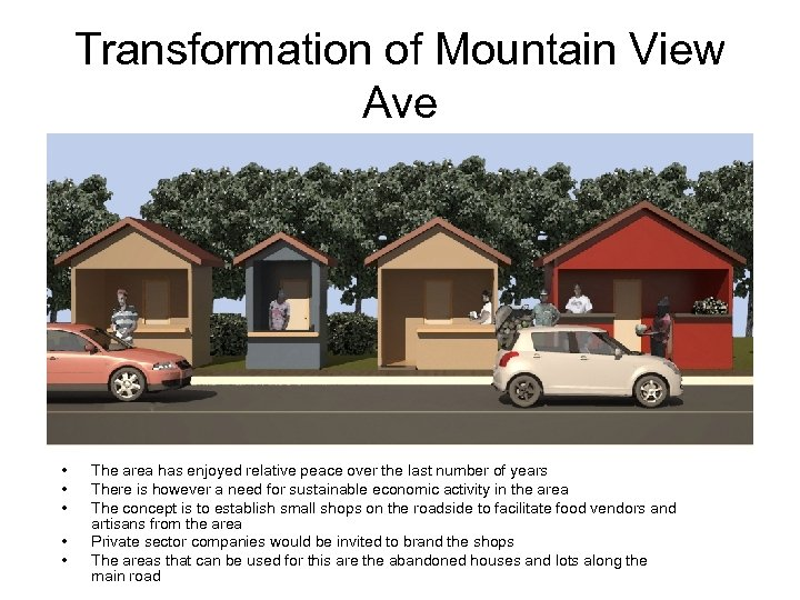 Transformation of Mountain View Ave • • • The area has enjoyed relative peace