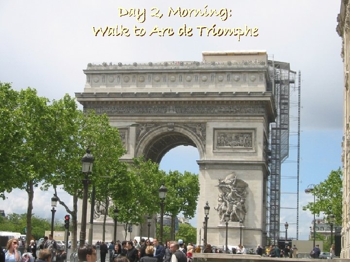 Day 2, Morning: Walk to Arc de Triomphe