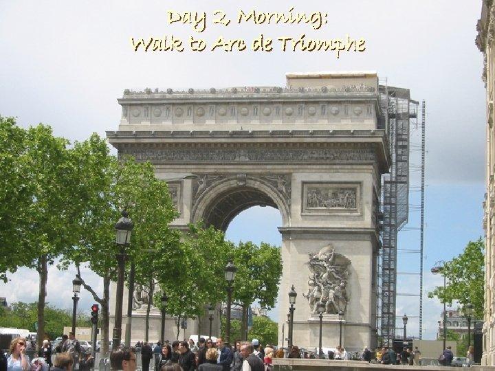 Day 2, Morning: Walk to Arc de Triomphe