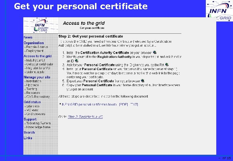 Get your personal certificate – n° 15
