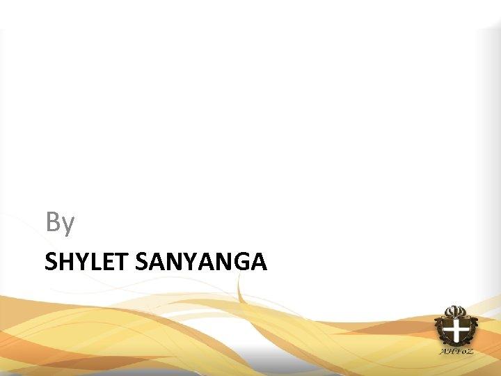 By SHYLET SANYANGA