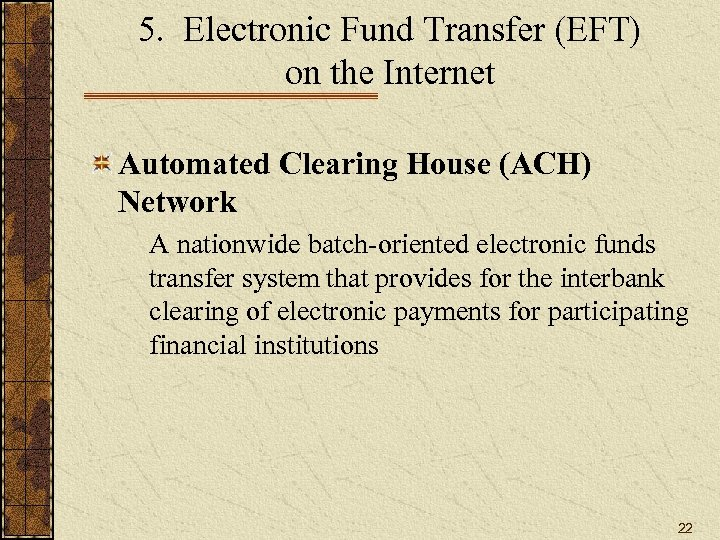 Electronic Commerce I Secured Electronic Payment Systems