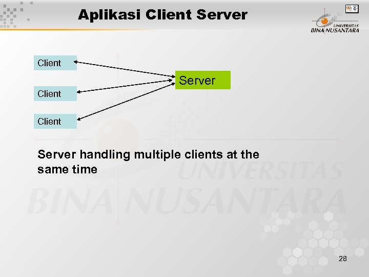 Aplikasi Client Server handling multiple clients at the same time 28